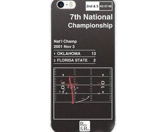 Oklahoma Football iPhone Case: 7th National Championship (2001)