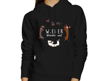 Wiener Wonderland Black Hoodie [JHD006]