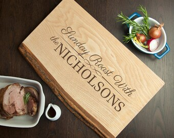 Personalised Sunday Roast Rustic Carving Board - Serving Board - Engraved Board - Roast Dinner - Platter - FREE UK DELIVERY