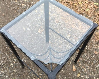 """Abstract  Gothic Spider Web Table (18""""x18""""x31"""")"""