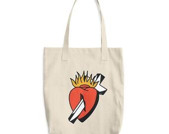 Sacred Heart Cotton Tote Bag