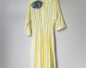 Vintage 70s 80s The American Shirt Dress Large L Medium M