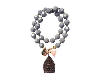 hippie bracelet buddha boho grau bohemian peace warpbracelet hippiejewellry gypsy armcandy festival buddha