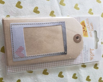 Amy Tangerine - American Crafts - 5 Die Cut Kraft Tags - Stitched Layers
