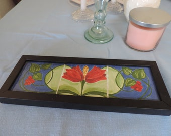 Hand-made Arts & Crafts Style Tile Picture