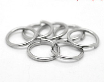 AX6 - Set of 20 13mm steel split rings very strong stainless