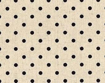 Moda. Mochi Dot. Natural Cotton/Linen. - Choose your Cut and Print.