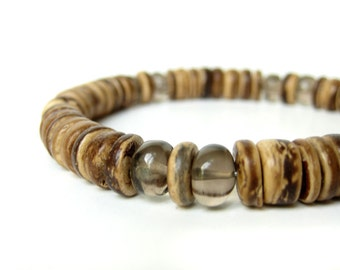 Men's Jewelry - Men's beaded bracelet. Gunsmoke.