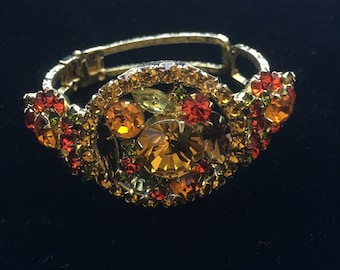 Beautiful and Highly Detailed Juliana Embossed / Etched Clamper Delizza & Elster Bracelet
