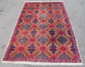 53'' X 96'' rug vintage free shipping VINTAGE TURKİSH ousak rug Anatolian handwoven kilim rug decorative kilim