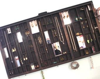 Mirrored Printer Drawer Jewelry Display