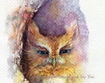 To be calm - ORIGINAL watercolor painting 7.5x11 inches