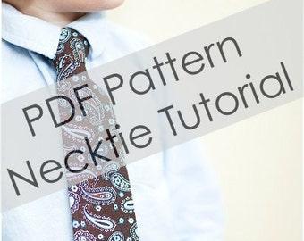 Pattern - Little Boy Tie Pattern - PDF Pattern - Sizes 6M - 9 years - Boy Pattern