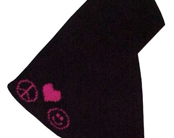 Peace, Heart, Smiley Scarf