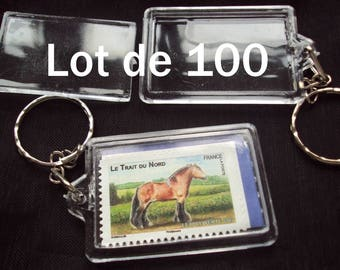 Set of 100 key transparent frame 35 X 100 mm free shipping tracking photo holder