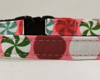 Cat Collar or Kitten Collar - Peppermint Patty