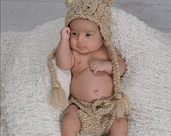 Baby Bear Outfit, Newborn Photo Outfit, Coming Home Outfit, Bear Hat, Crochet Baby Outfit, Baby Outfit, Baby Hat, Diaper Cover, Bear Outfit
