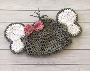 Elephant hat, baby elephant hat, elephant, crochet elephant hat, newborn elephant hat, baby elephant, crochet baby hat, elephant photo prop