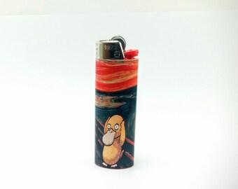 Pokemon Psyduck as The Scream by Edvard Munch Custom Lighter