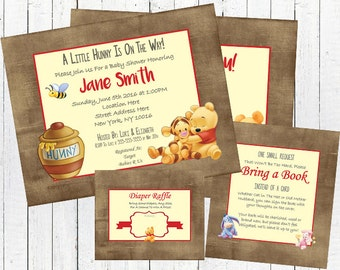 Winnie the Pooh Baby Shower Invitation Set - Gender Neutral