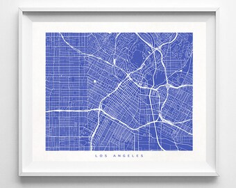Los Angeles Map, California Print, Los Angeles Poster, California Art, Wedding Gift, Office Wall Art, Baby Room Decor, Fathers Day Gift
