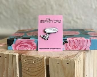 Strawberry Swing Indie Craft Fair Indie Bird Enamel Pin