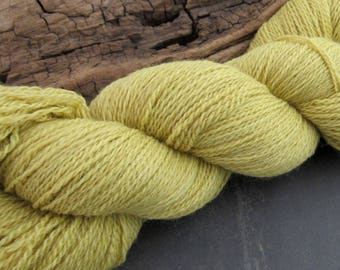 100g Goldenrod Yellow Dyed Natural Dye Laceweight Wool Yarn