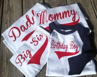 Birthday Boy Shirt, Family Birthday Shirt, Birthday Shirt, Matching Family Birthday Shirts
