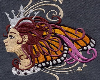 Maiden Monarch Embroidered Flour Sack Hand/Dish Towel