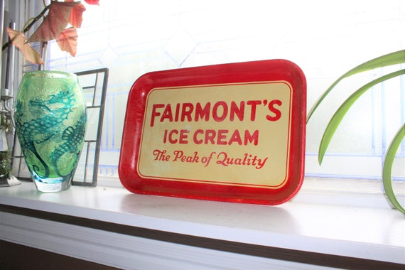 Vintage Fairmont's Ice Cream Tray 1950s Advertising