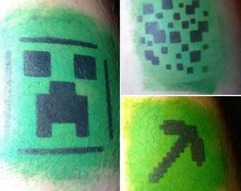 Minecraft (inspired) Stencils
