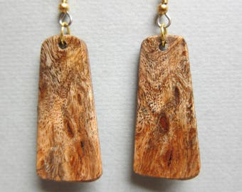 Exotic Wood Gmelia Burl Med Earrings ExoticWoodJewelryAnd handcrafted ecofriendly