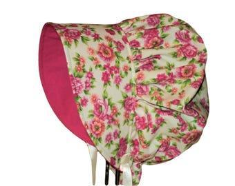 Baby Bonnet, Baby Sun Hat, Baby Girl Bonnet, Sun Bonnet, Cotton Summer Bonnet, Toddler Hat, Newborn Bonnet, Baby Gift, Floral Bonnet, Infant