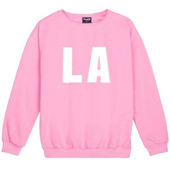 LA Sweater Jumper Womens Ladies Fun Tumblr Hipster Swag