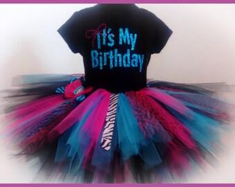 Birthday tutu set for teens size 12 girls through size 16 girls