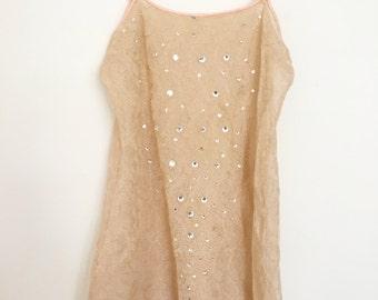 Vintage 1920s sequin lace camisole