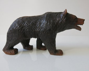 BLACK FOREST BEAR - Handcarved bear from the late 19th century