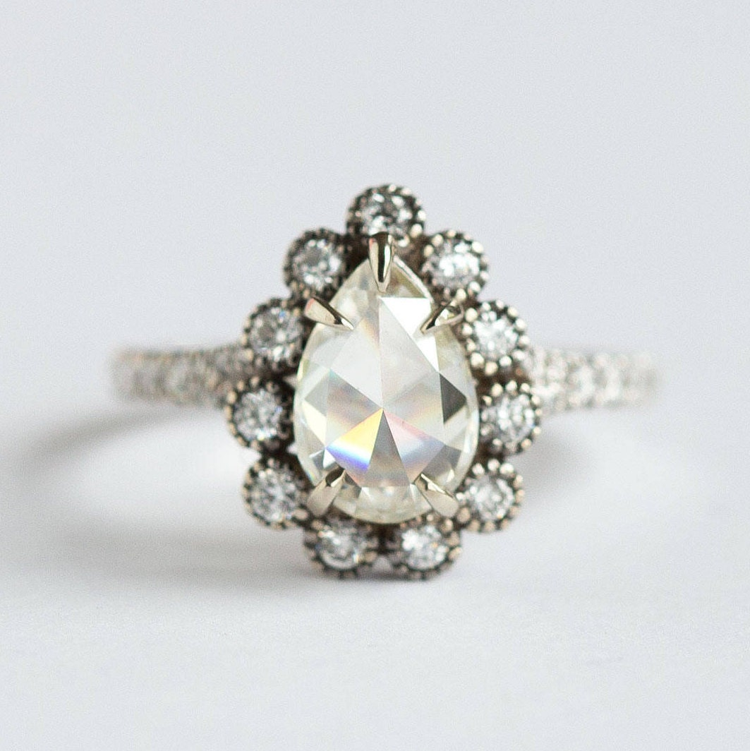 into shape ring repurposed pear diamonds engagement client pin new anakatarina s a rings