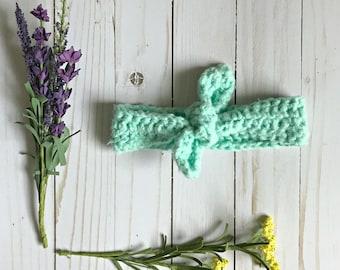 Baby Headband, Bamboo, Crochet Headband, Toddler Headband, Crochet Baby Headband, Baby Headbands, Baby Bows, Baby Headwrap, Baby Bow, Gift