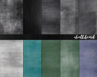 Chalkboard Digital Paper, Grey, Green & Black Chalk Board Background Texture, Back to School, Teacher Clip Art, DIY Print, Instant Download