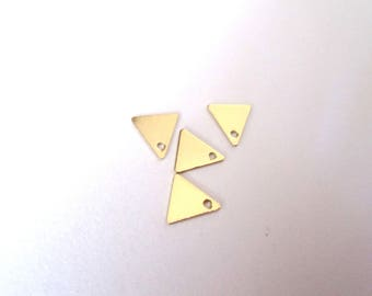 Set of 4 charms triangles 8mm