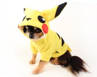 Dog Costume pikachu dog costume Halloween pokemon dog hoodie in yellow