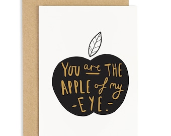 Apple Of My Eye Card - Valentine's Day Card - CC224