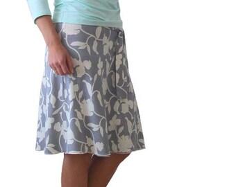 Wrap skirt, Summer skirt, Plus size skirt,  Knee length, A line skirt, Plus size summer skirt, Summer plus size skirt, Plus size clothing