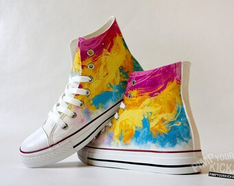 Colorful Brushes Custom Made Shoes
