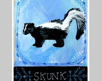 Animal Totem Print - Skunk