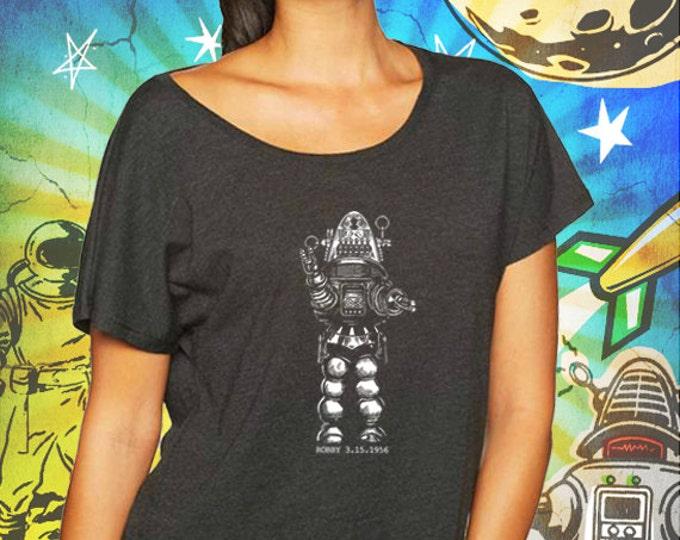 Forbidden Planet / Robby the Robot / Vintage Black Women's Dolman Shirt