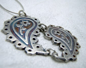 Silver Paisley Necklace