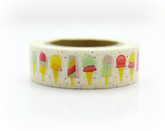 Popsicle Washi Tape - Craft Supplies - Planner Stickers - Erin Condren - Scrapbooking - Bujo Journal - Decorative Tape - Love My Tapes