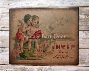 All You Need Is Love - Valentine's Day (Glitter) 8x10 Canvas